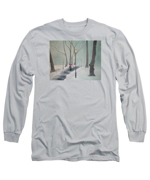 Snowfall In The Park Long Sleeve T-Shirt