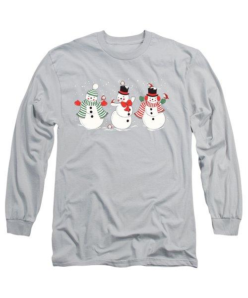 Snowman Winter Wonderland Long Sleeve T-Shirt