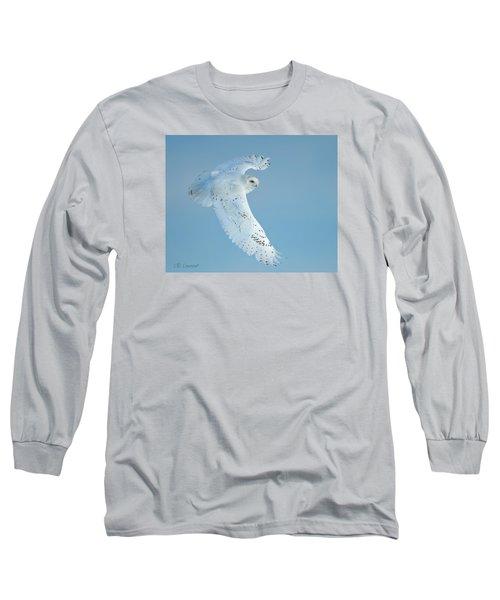 Snowy Against Blue Sky Long Sleeve T-Shirt