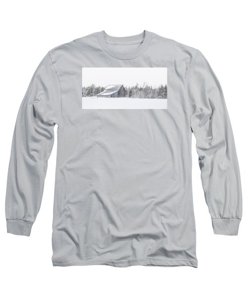 Snowy Barn Long Sleeve T-Shirt by Dan Traun
