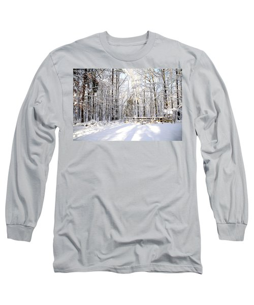 Snowy Chicken Coop Long Sleeve T-Shirt
