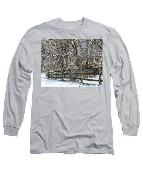 Winter Fence Long Sleeve T-Shirt