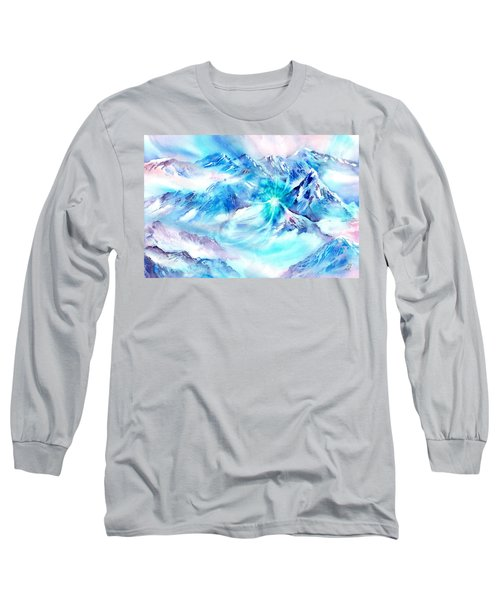 Snowy Mountains Early Morning Long Sleeve T-Shirt