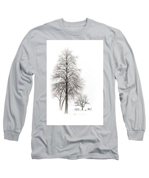 Snowy Trees Long Sleeve T-Shirt