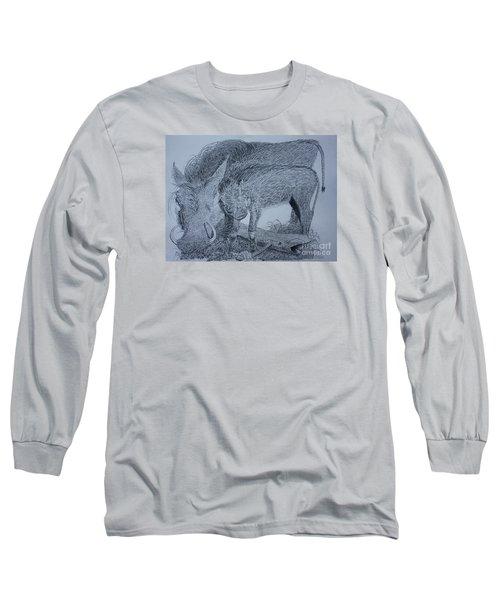 Snuggle Long Sleeve T-Shirt by David Joyner