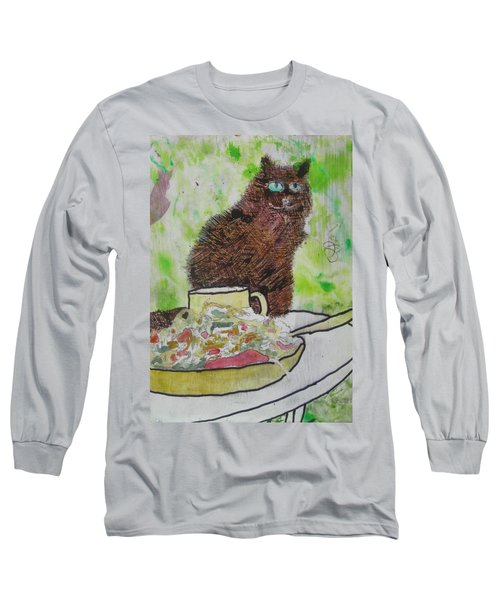 Long Sleeve T-Shirt featuring the painting So by AJ Brown