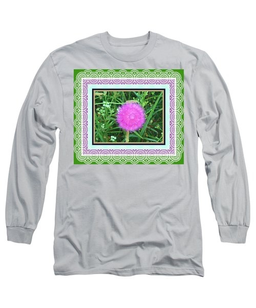 Soft Pink Thistle Long Sleeve T-Shirt