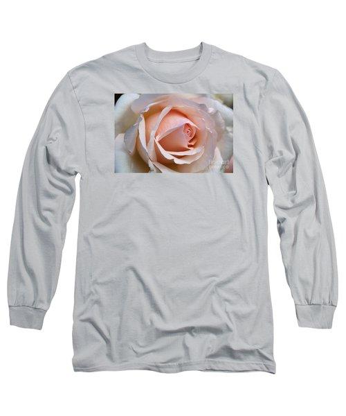 Soft Rose Long Sleeve T-Shirt by Joy Watson