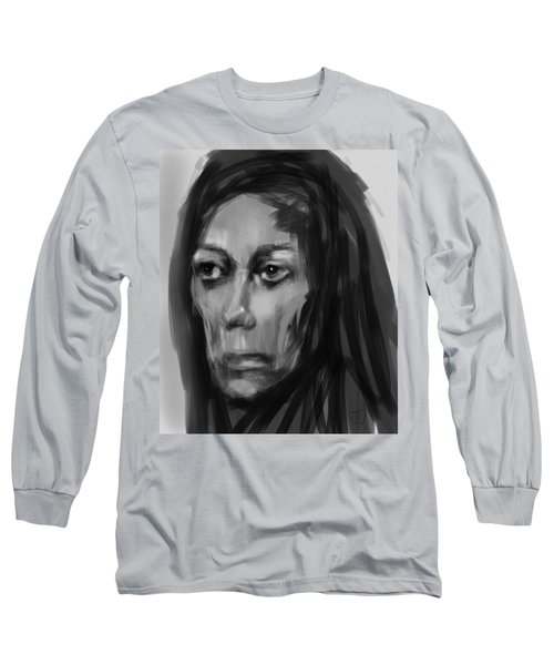 Long Sleeve T-Shirt featuring the painting Solemn by Jim Vance