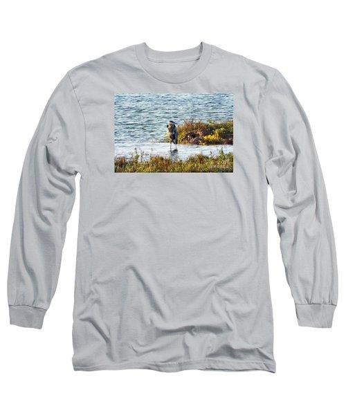 Solitary Heron Long Sleeve T-Shirt