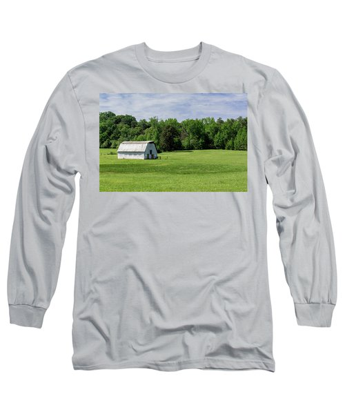Barn In Green Pasture Long Sleeve T-Shirt