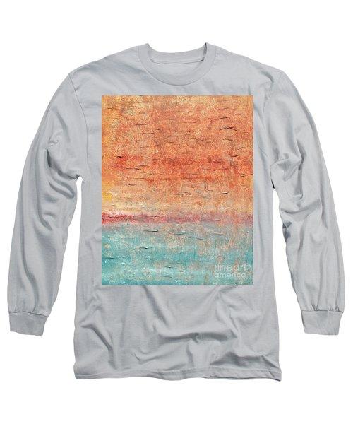 Sonoran Desert #1 Southwest Vertical Landscape Original Fine Art Acrylic On Canvas Long Sleeve T-Shirt