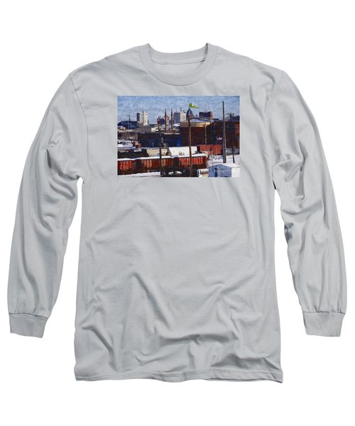 Long Sleeve T-Shirt featuring the digital art Soo Line by David Blank