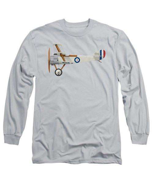 Sopwith Triplane Prototype - Side Profile View Long Sleeve T-Shirt