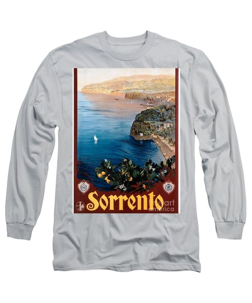 Sorrento - Poster Long Sleeve T-Shirt by Pg Reproductions