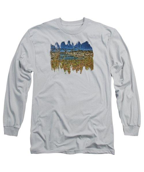 South Beach Marina Long Sleeve T-Shirt by Thom Zehrfeld