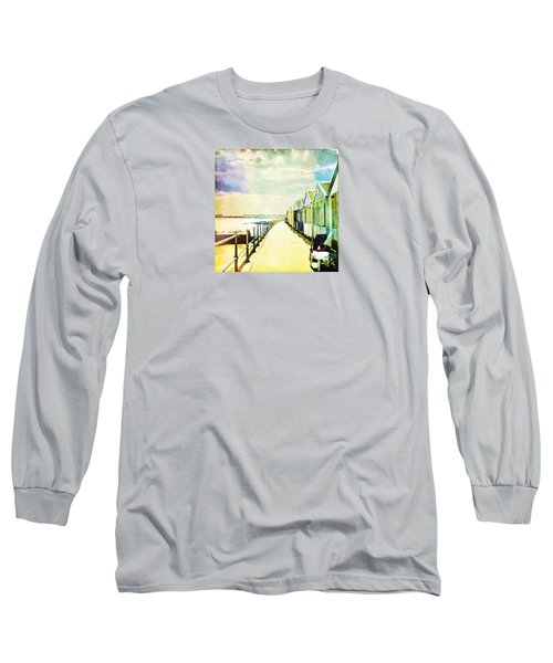 Long Sleeve T-Shirt featuring the photograph Southwold Beach Huts by Anne Kotan