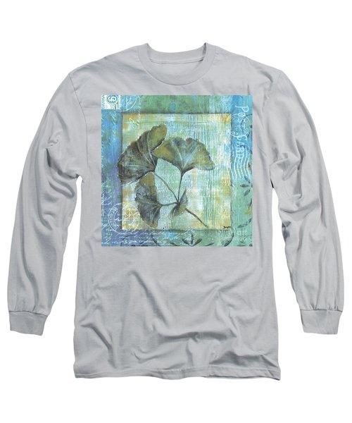 Spa Gingko Postcard 1 Long Sleeve T-Shirt