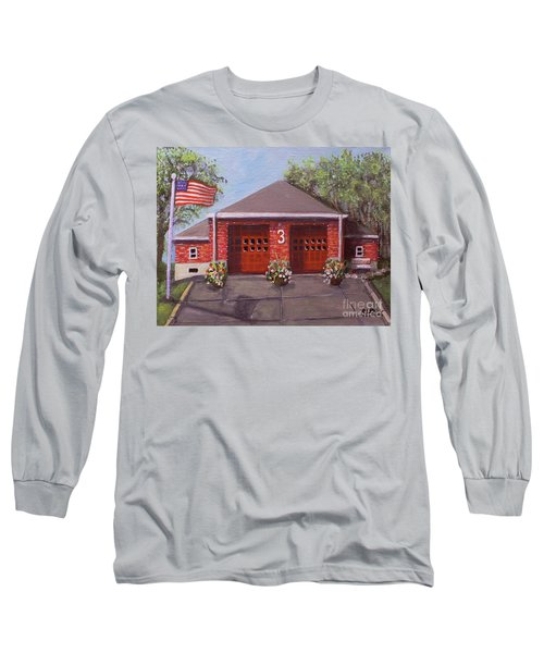 Spring Day At Willow Fire House Long Sleeve T-Shirt by Rita Brown
