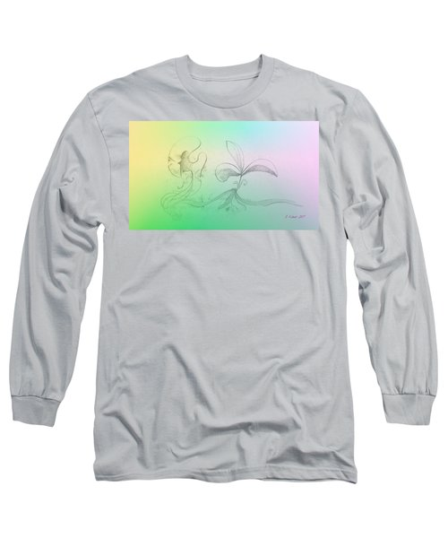 Long Sleeve T-Shirt featuring the mixed media Spring Feelings 1 by Denise Fulmer