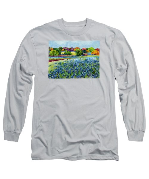 Long Sleeve T-Shirt featuring the painting Spring Impressions by Hailey E Herrera