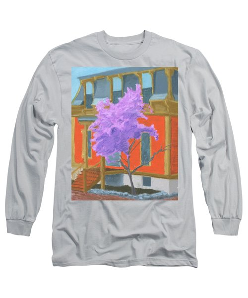 Spring In Pink And Orange Long Sleeve T-Shirt