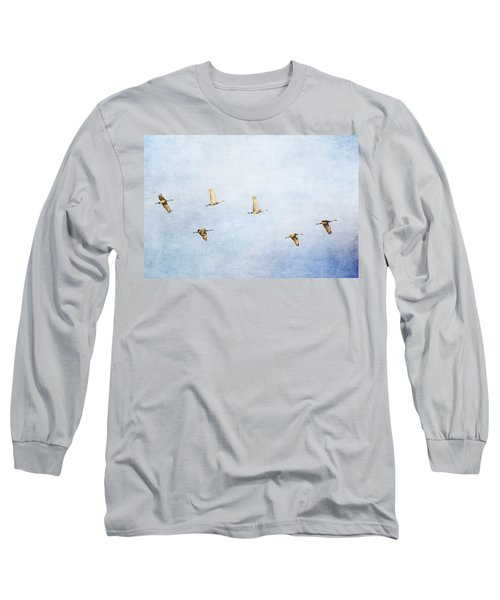 Spring Migration 3 - Textured Long Sleeve T-Shirt