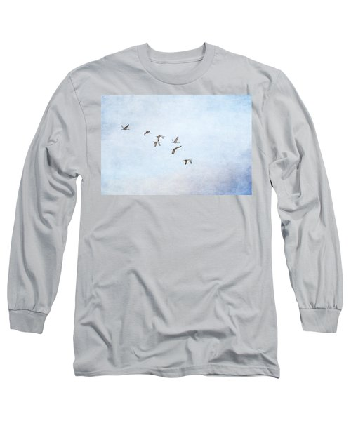 Spring Migration - Textured Long Sleeve T-Shirt