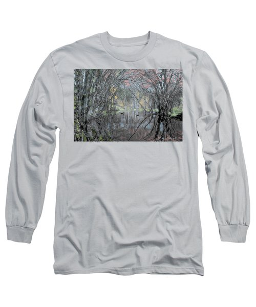Long Sleeve T-Shirt featuring the digital art Spring On The Backwater by John Selmer Sr