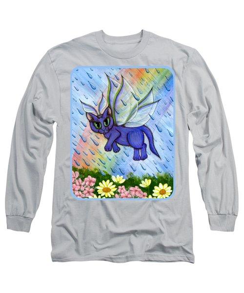 Spring Showers Fairy Cat Long Sleeve T-Shirt