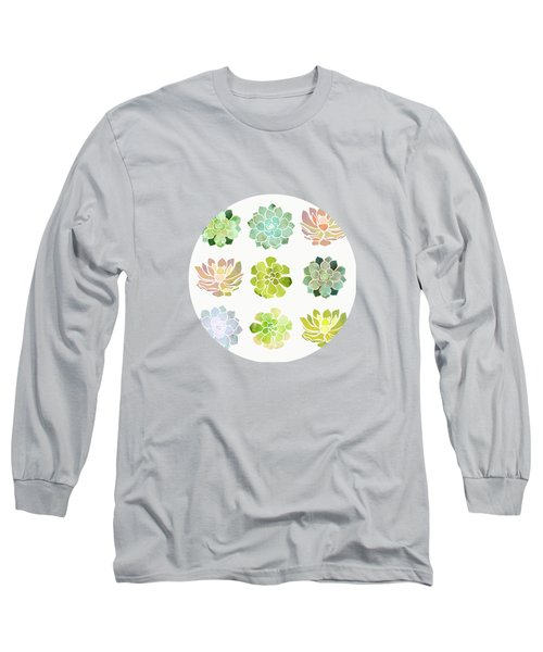 Spring Succulents Long Sleeve T-Shirt