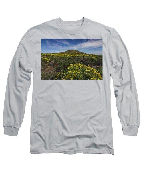 Spring Wildflowers Blooming In Malibu Long Sleeve T-Shirt