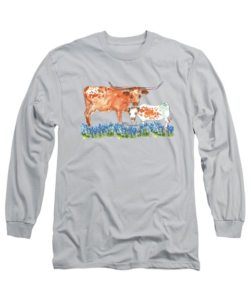 Springs Surprise Watercolor Painting By Kmcelwaine Long Sleeve T-Shirt