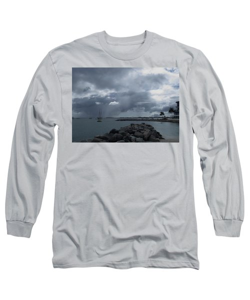Squall In Simpson Bay St Maarten Long Sleeve T-Shirt