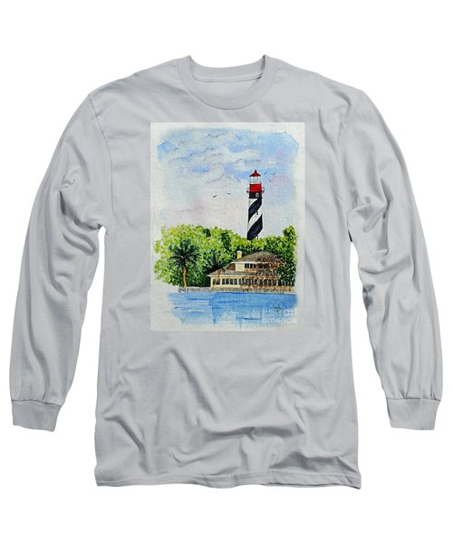 Long Sleeve T-Shirt featuring the painting St Augustine Lighthouse  by Terri Mills