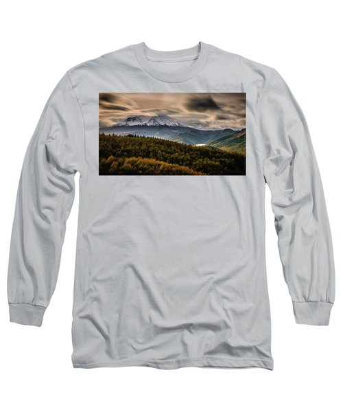Long Sleeve T-Shirt featuring the photograph St. Helens Wrath by Dan Mihai