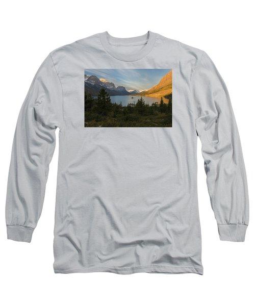St. Mary Lake Long Sleeve T-Shirt by Gary Lengyel