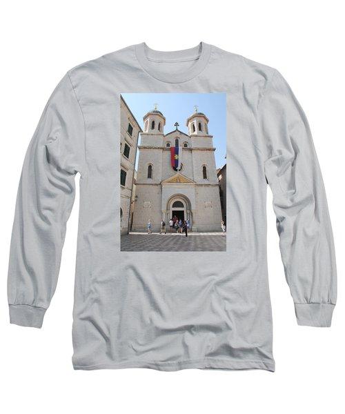 St Nicholas Kotor Long Sleeve T-Shirt by Robert Moss