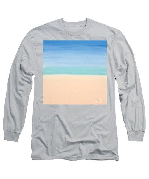 St Thomas #4 Seascape Landscape Original Fine Art Acrylic On Canvas Long Sleeve T-Shirt