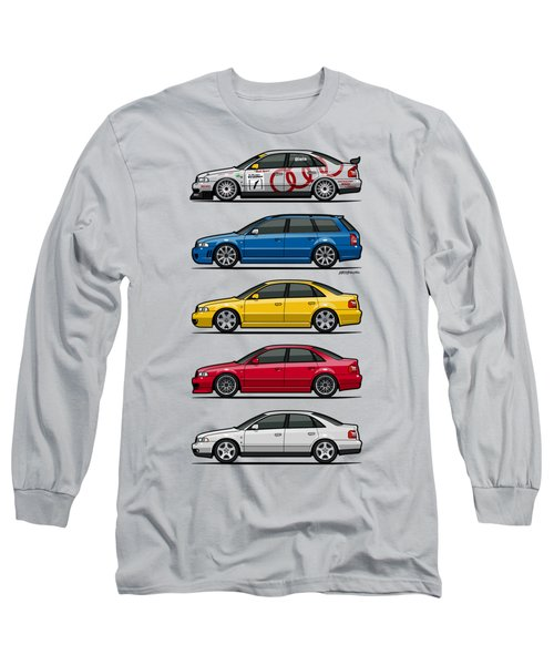 Stack Of Audi A4 B5 Type 8d Long Sleeve T-Shirt by Monkey Crisis On Mars