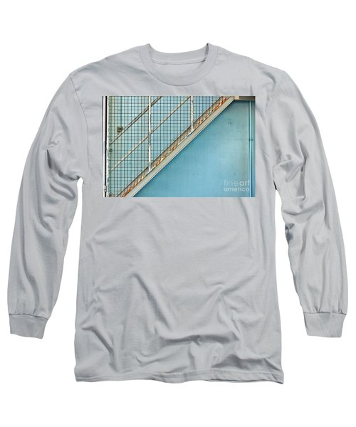 Stairs On Blue Wall Long Sleeve T-Shirt