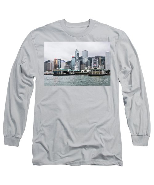 Star Ferry Building Terminal In The Central Business District Of Long Sleeve T-Shirt
