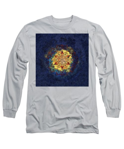 Star Shine Blue And Gold Long Sleeve T-Shirt