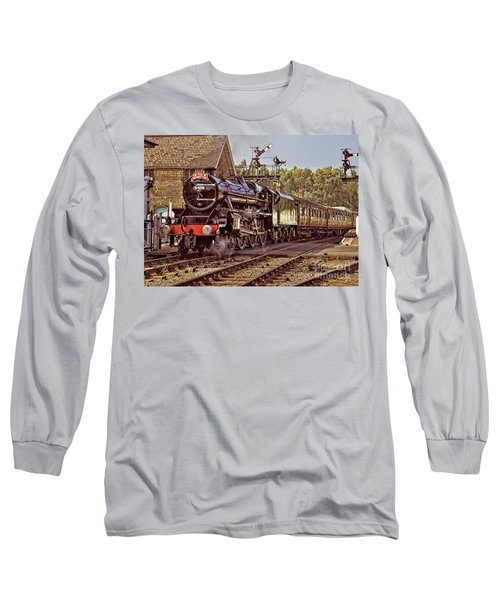 Steam Loco On Yorkshire Railway Long Sleeve T-Shirt