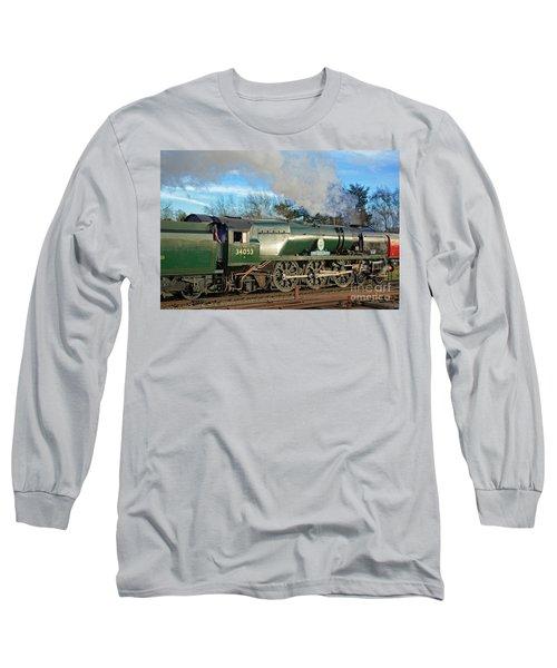 Steam Locomotive Elegance Long Sleeve T-Shirt