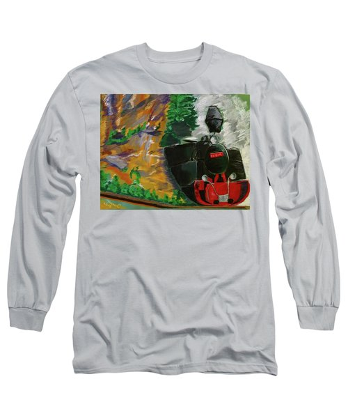 Steam Train Long Sleeve T-Shirt by Manuela Constantin
