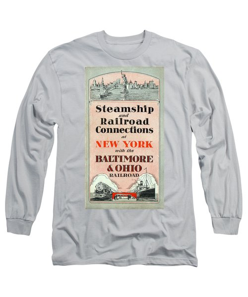 Steamship And Railroad Connections At New York Long Sleeve T-Shirt