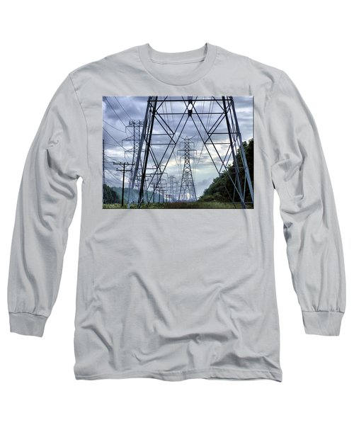 Long Sleeve T-Shirt featuring the photograph Steel Soldiers Marching To The Sea by Brian Wallace