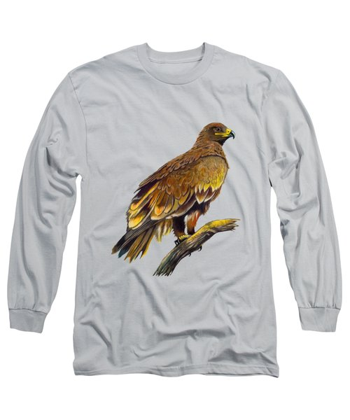 Long Sleeve T-Shirt featuring the painting Steppe Eagle by Anthony Mwangi