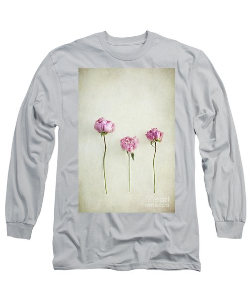 Still Life Of Dried Peonies With Texture Overlay Long Sleeve T-Shirt